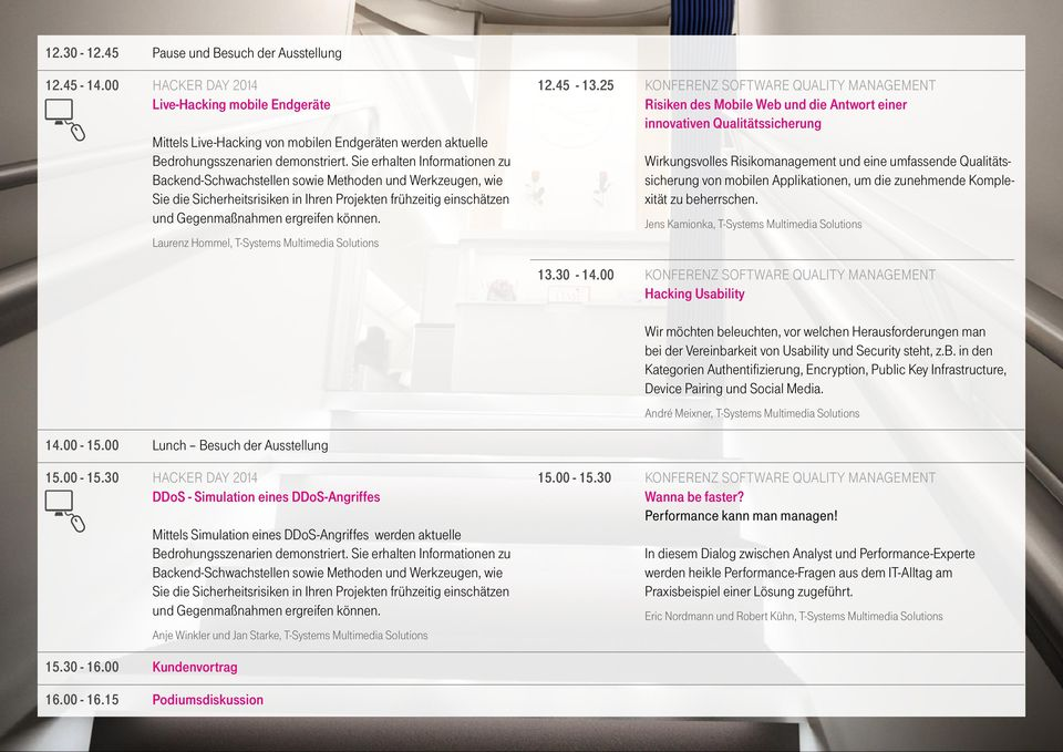 Laurenz Hommel, T-Systems Multimedia Solutions 12.45-13.