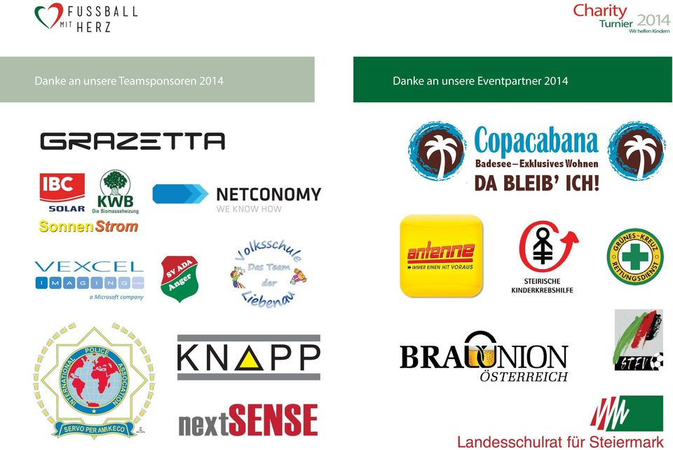 unsere Eventpartner 2014