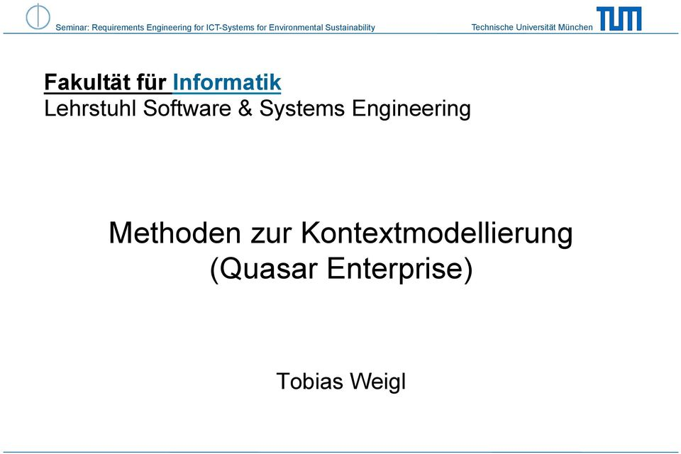 Engineering Methoden zur