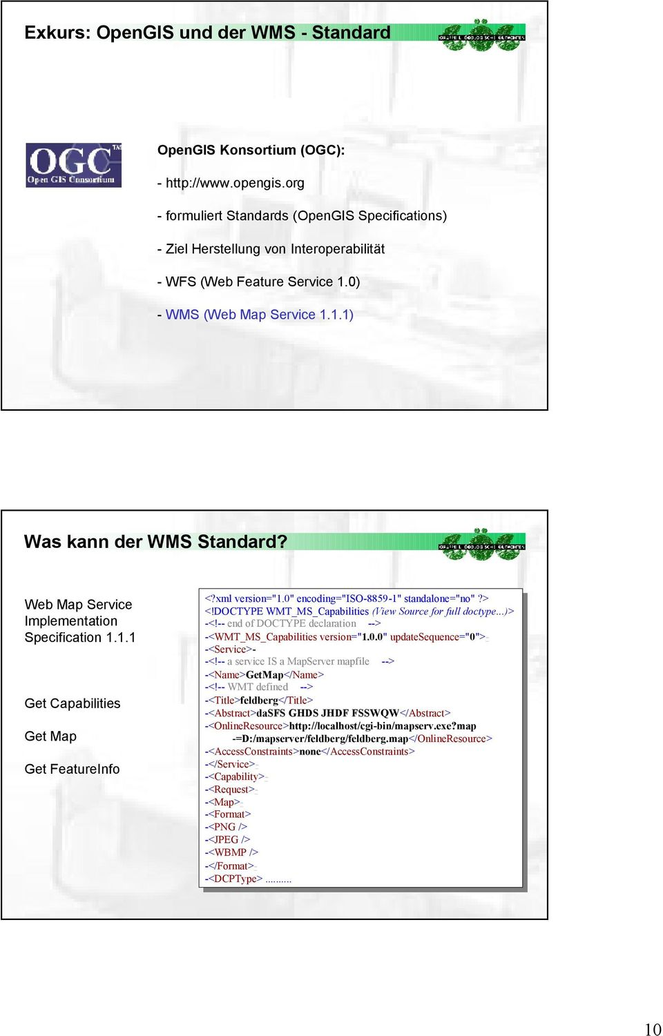 "Web Map Service Implementation Specification 1.1.1 Get Capabilities Get Map Get FeatureInfo <?xml <?xml version=""1.0"" version=""1."