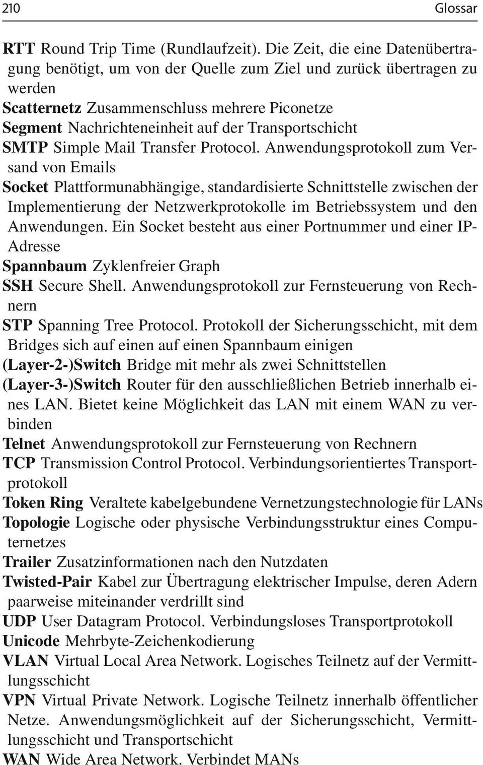 Transportschicht SMTP Simple Mail Transfer Protocol.