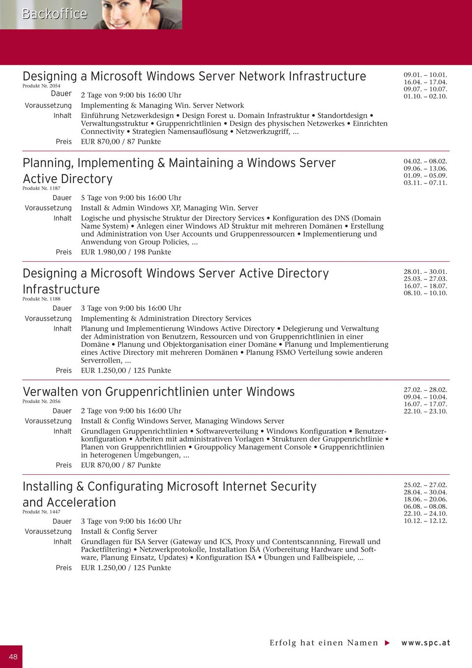 .. Planning, mplementing & Maintaining a Windows Server Active Directory Produkt Nr. 1187 nstall & Admin Windows XP, Managing Win.
