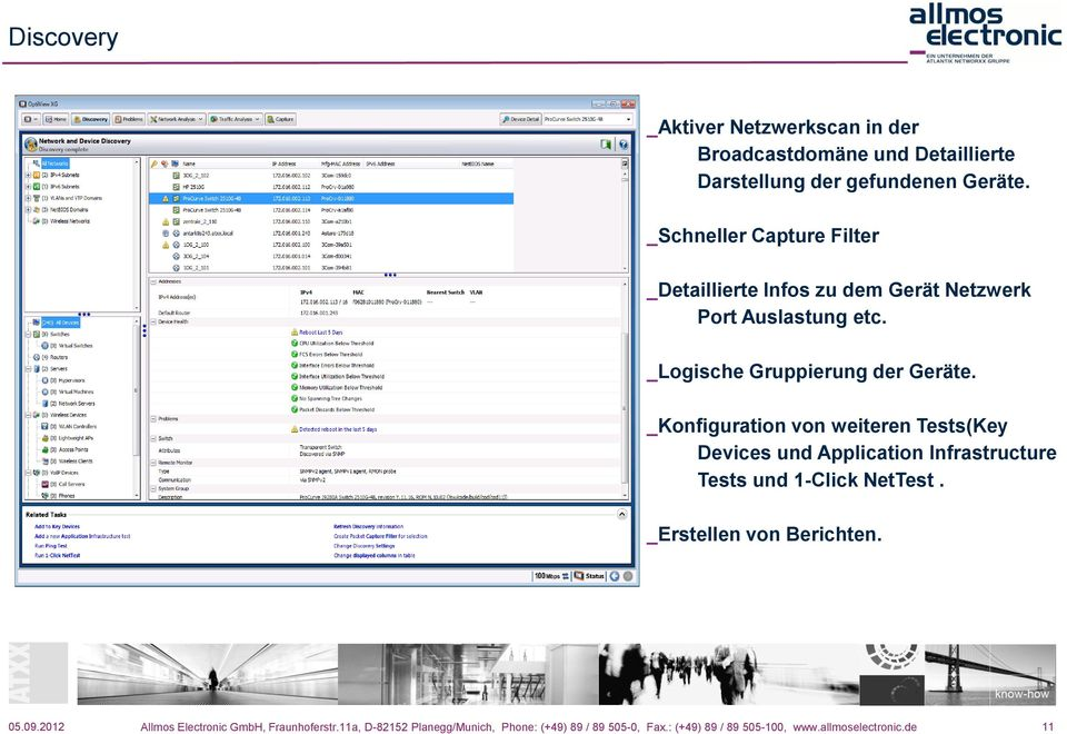 _Konfiguration von weiteren Tests(Key Devices und Application Infrastructure Tests und 1-Click NetTest.