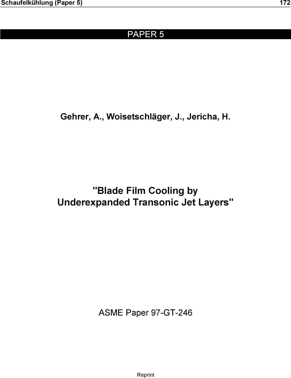"""Blade Film Cooling by"