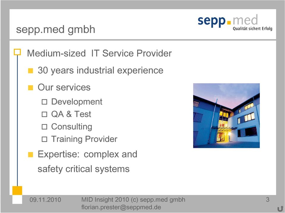 Consulting Training Provider Expertise: complex and safety