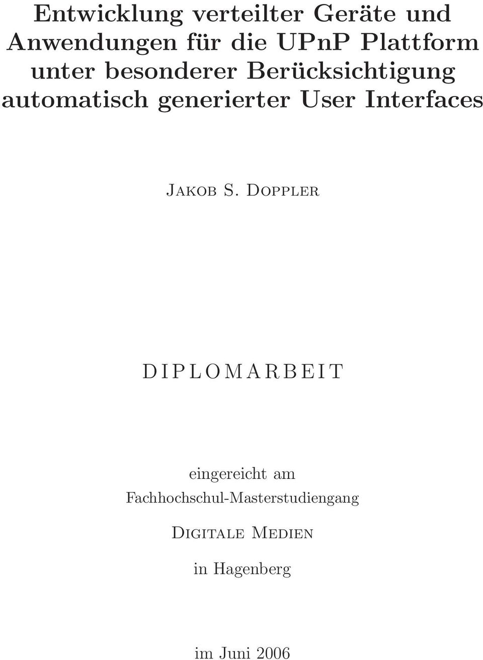 generierter User Interfaces Jakob S.