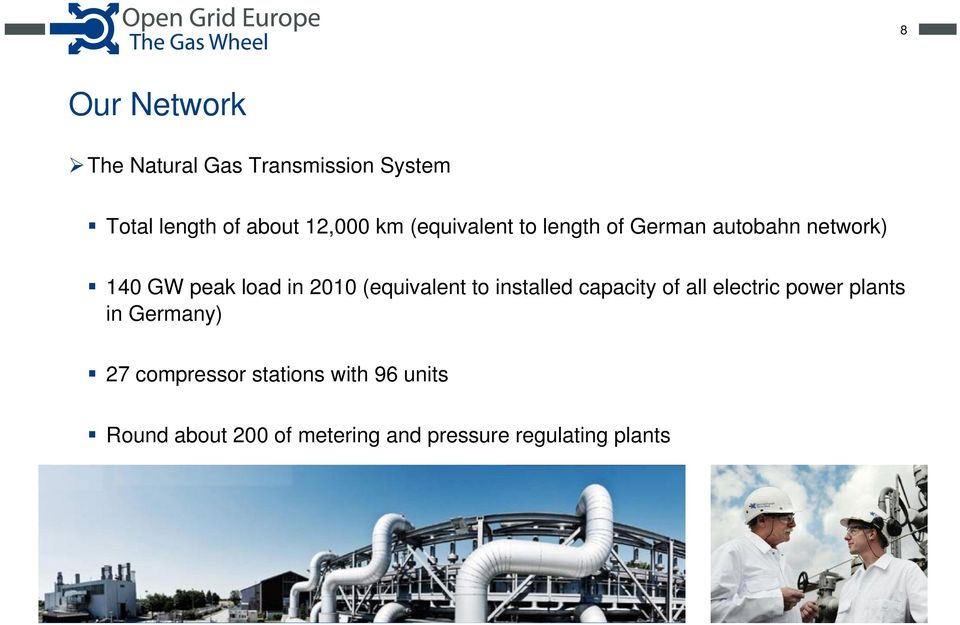 (equivalent to installed capacity of all electric power plants in Germany) 27