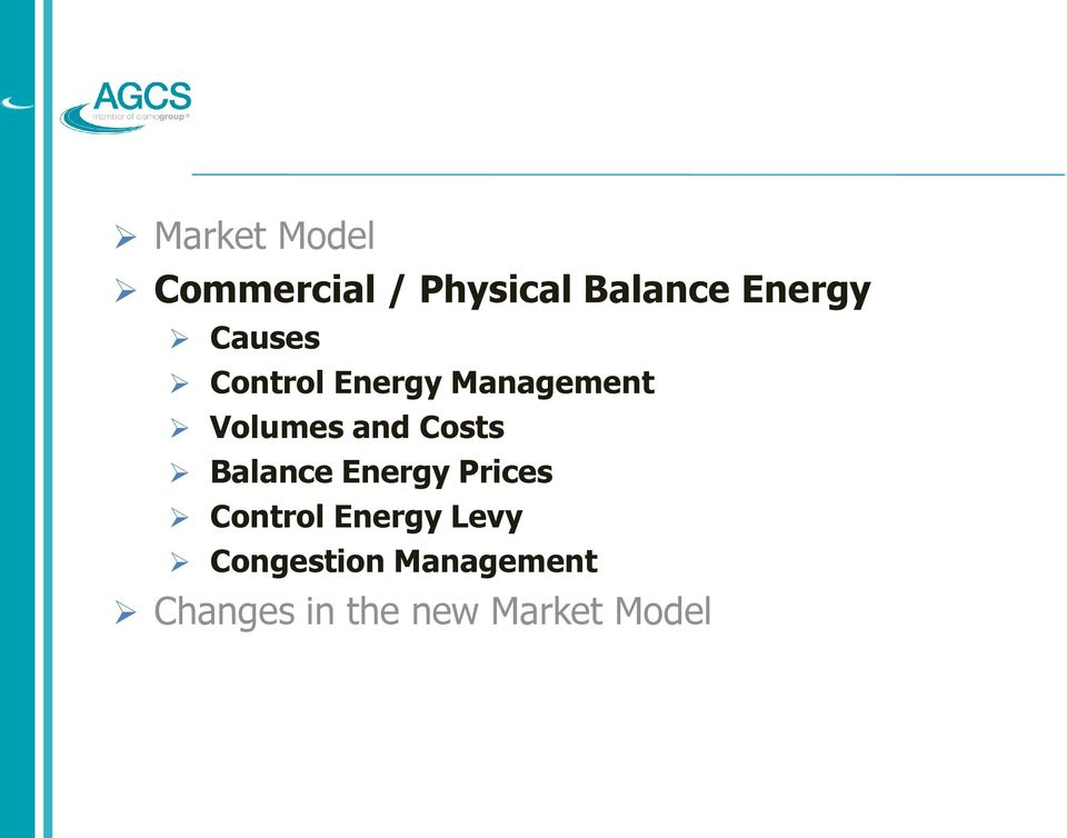 and Costs Balance Energy Prices Control Energy