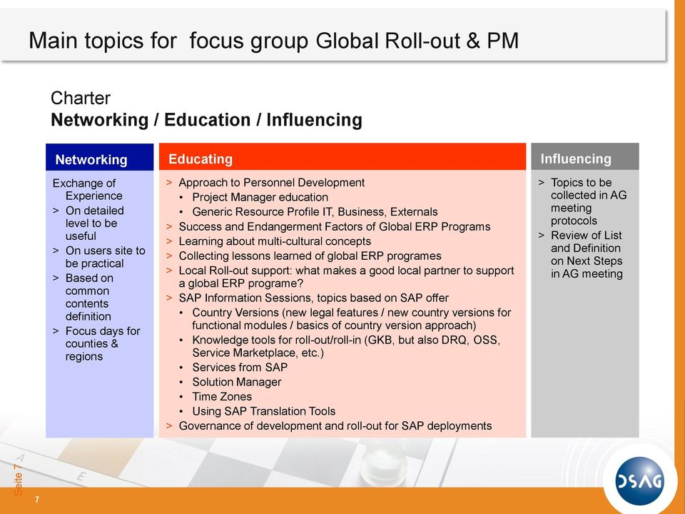Externals > Success and Endangerment Factors of Global ERP Programs > Learning about multi-cultural concepts > Collecting lessons learned of global ERP programes > Local Roll-out support: what makes