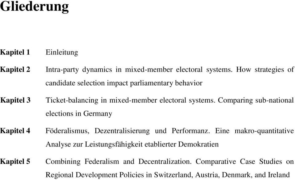 Comparing sub-national elections in Germany Föderalismus, Dezentralisierung und Performanz.