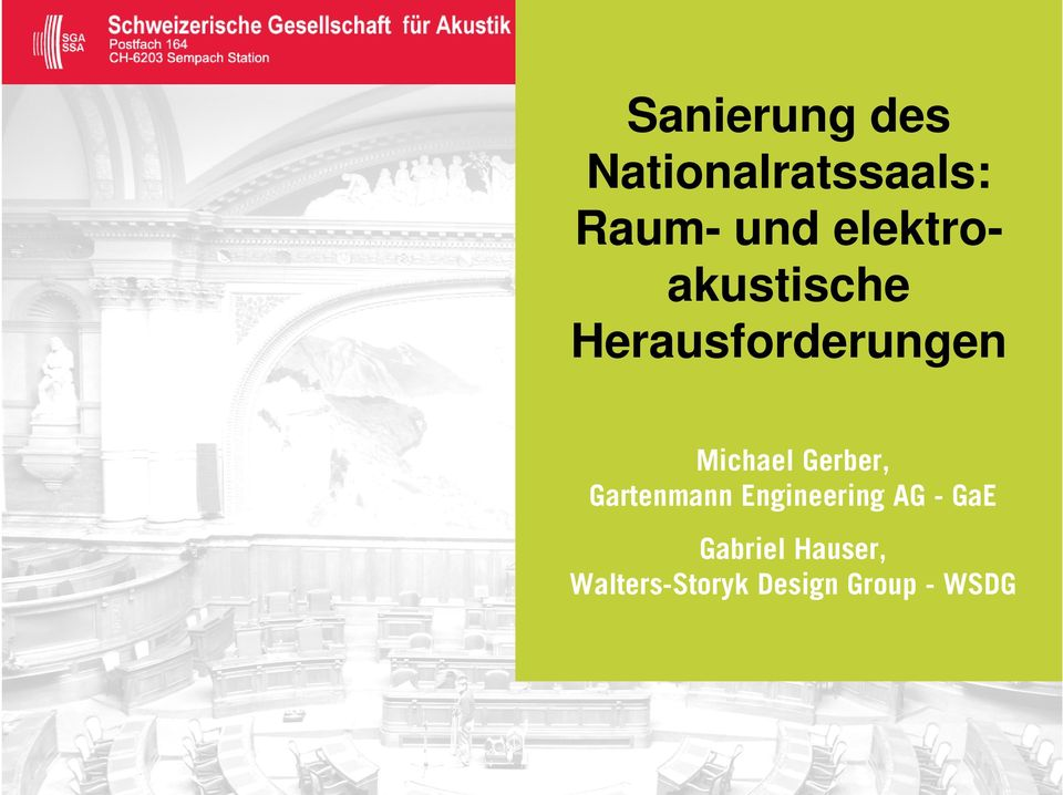 Gerber, Gartenmann Engineering AG - GaE