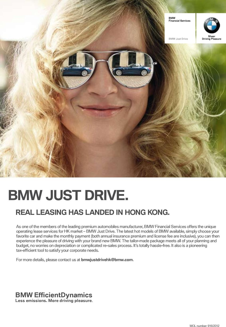 The latest hot models of BMW available, simply choose your favorite car and make the monthly payment (both annual insurance premium and license fee are inclusive), you can then experience