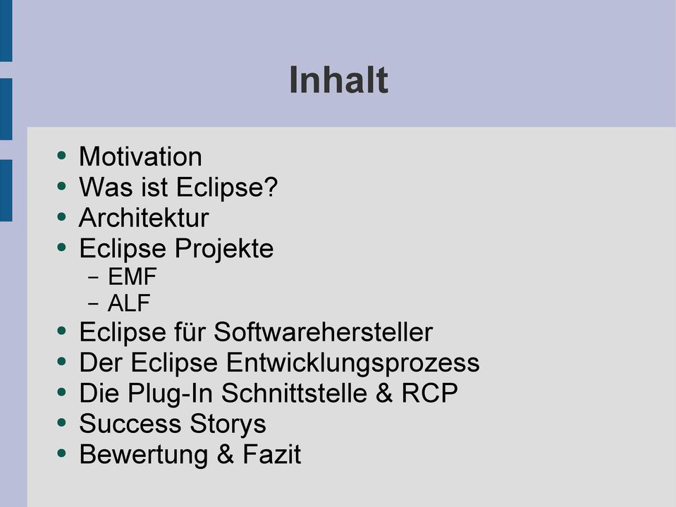 Softwarehersteller Der Eclipse