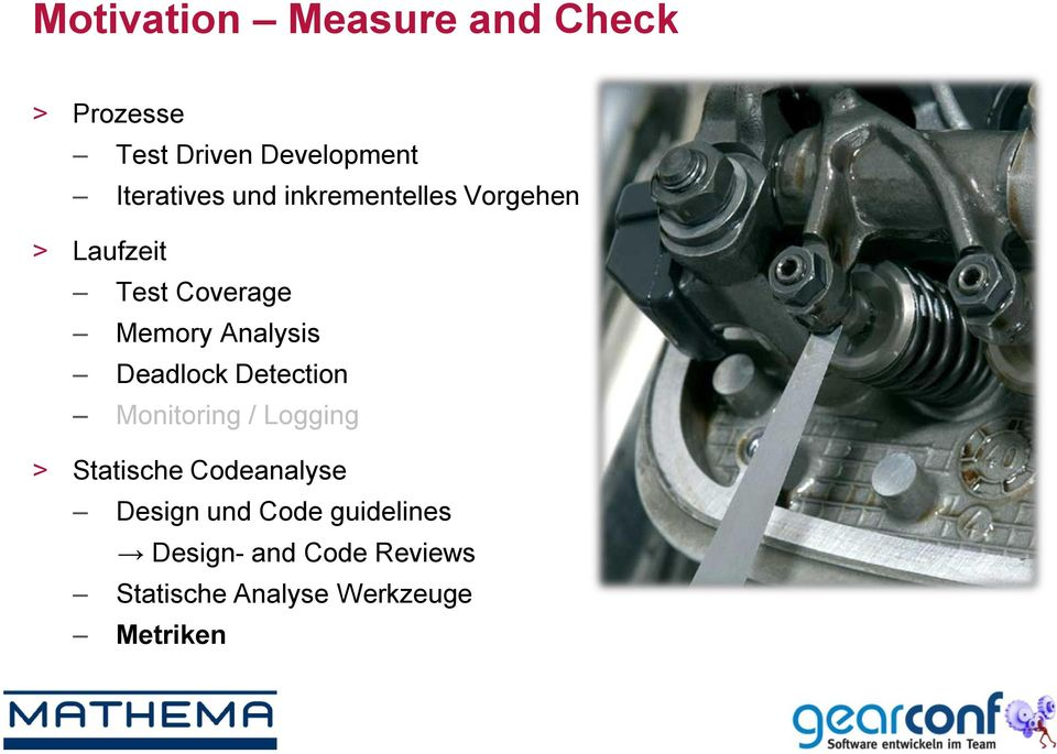 Analysis Deadlock Detection Monitoring / Logging > Statische Codeanalyse