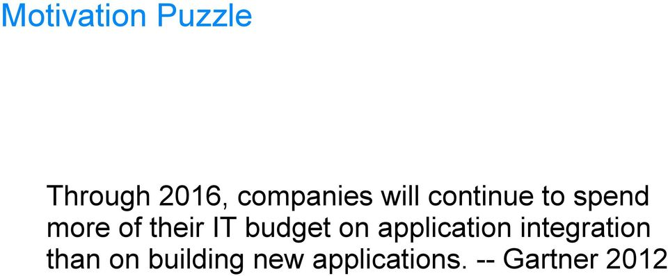 budget on application integration than on