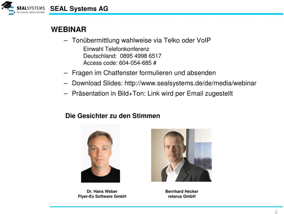 Download Slides: http://www.sealsystems.