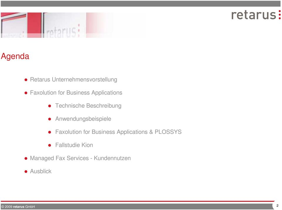 Anwendungsbeispiele Faxolution for Business Applications &