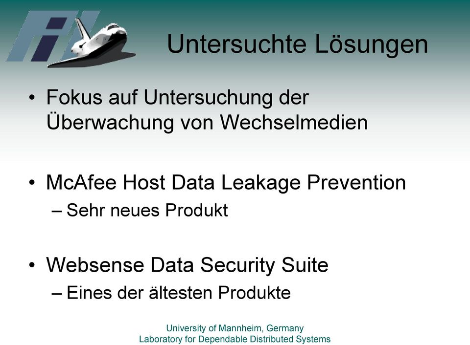 Leakage Prevention Sehr neues Produkt Websense