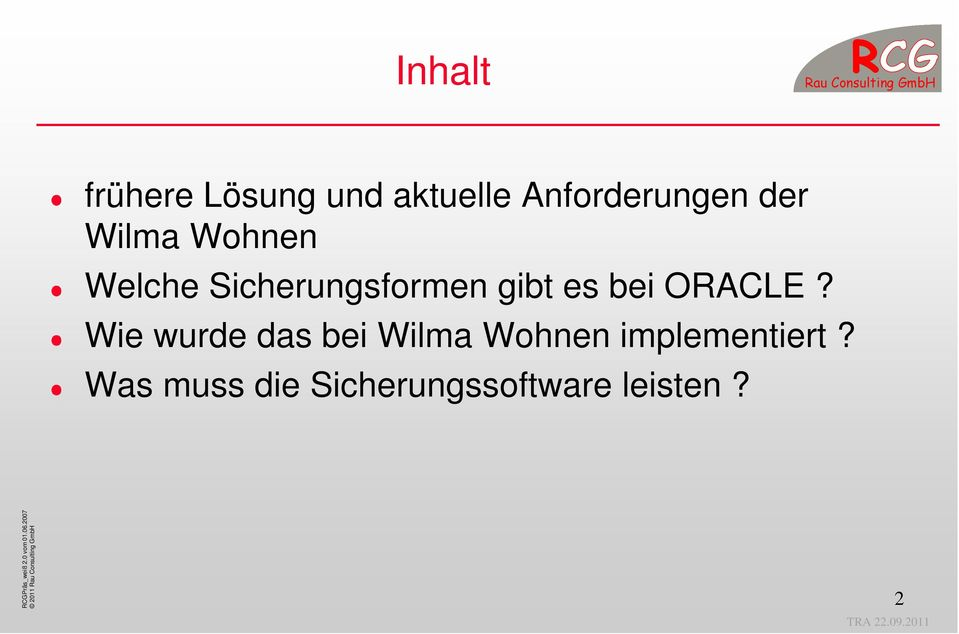 bei ORACLE?