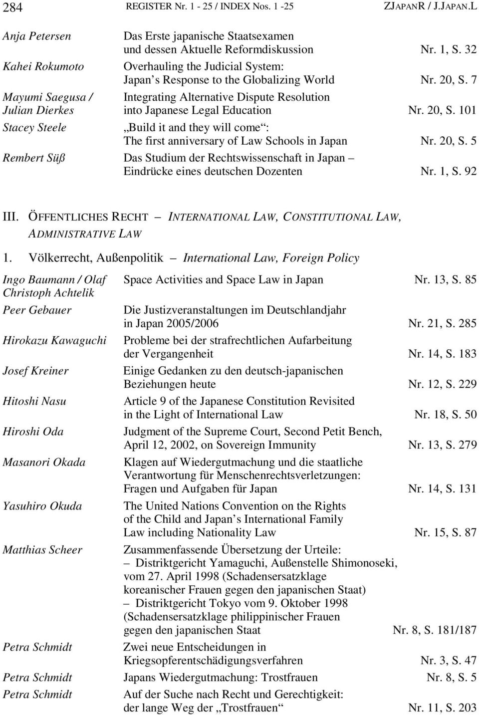7 Mayumi Saegusa / Integrating Alternative Dispute Resolution Julian Dierkes into Japanese Legal Education Nr. 20, S.