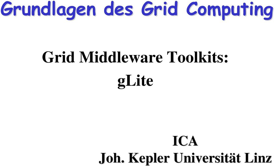 Middleware Toolkits: