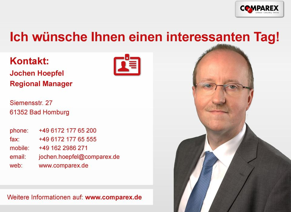 27 61352 Bad Homburg phone: +49 6172 177 65 200 fax: +49 6172 177 65 555