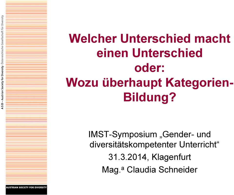 IMST-Symposium Gender- und