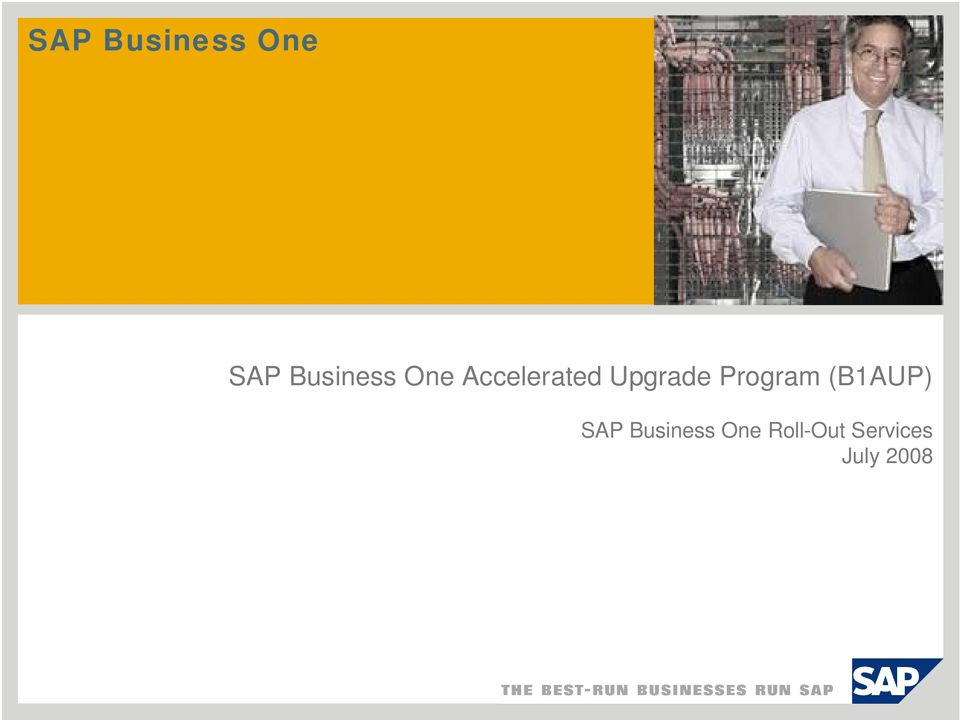 Upgrade Program (B1AUP) SAP