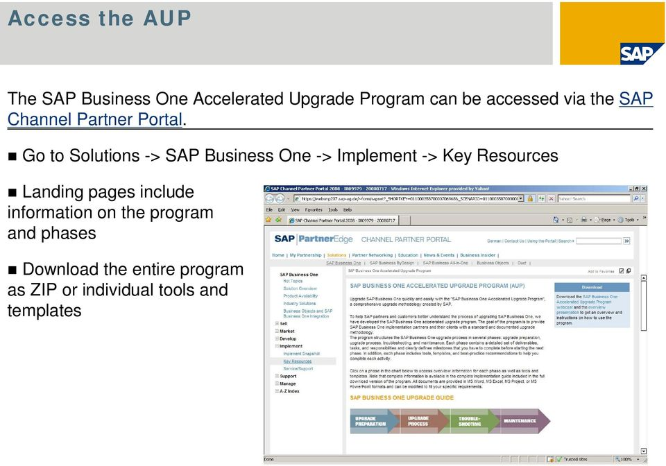 Go to Solutions -> SAP Business One -> Implement -> Key Resources Landing