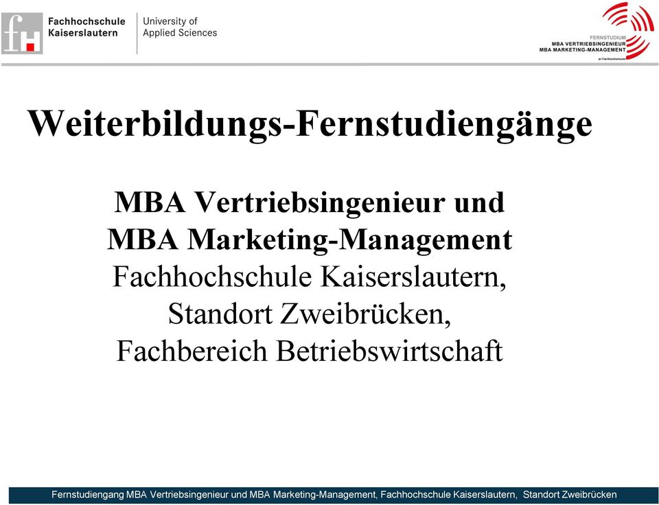 Marketing-Management Fachhochschule