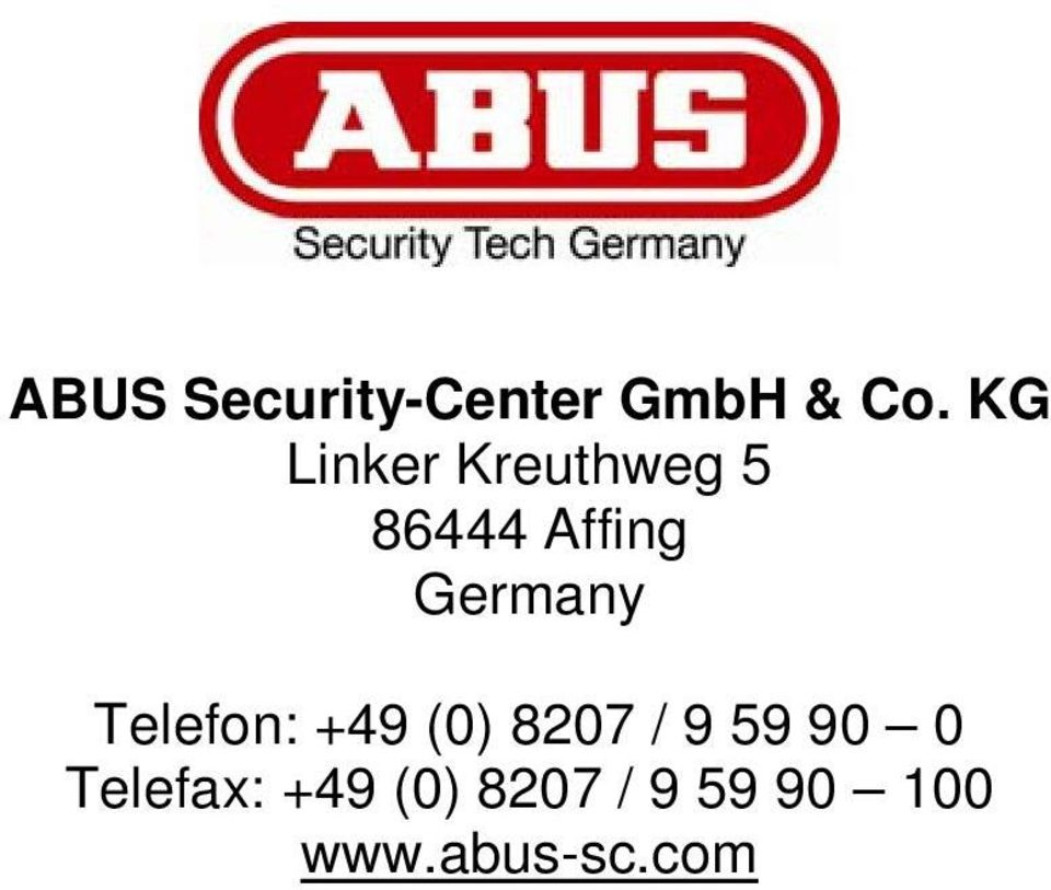 Germany Telefon: +49 (0) 8207 / 9 59 90