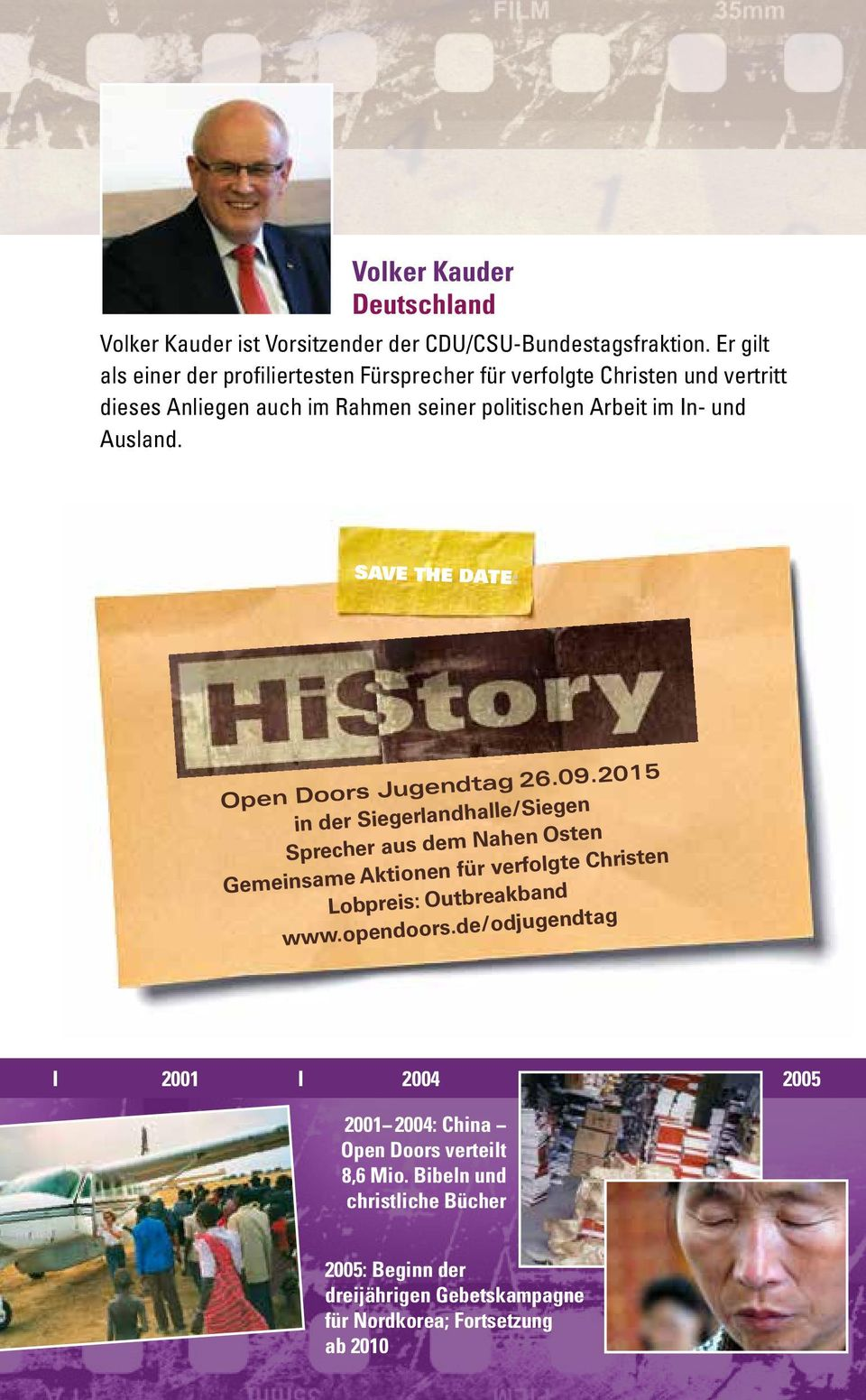 Ausland. Save the Date: Open Doors Jugendtag 26.09.