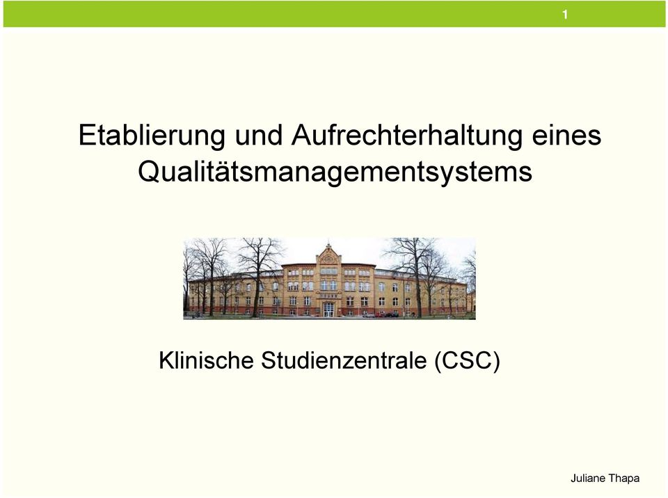 Qualitätsmanagementsystems