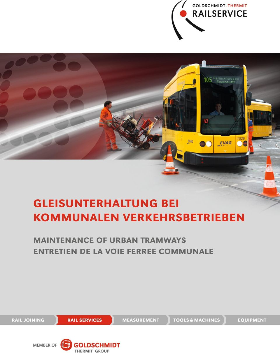 MAINTENANCE OF URBAN TRAMWAYS
