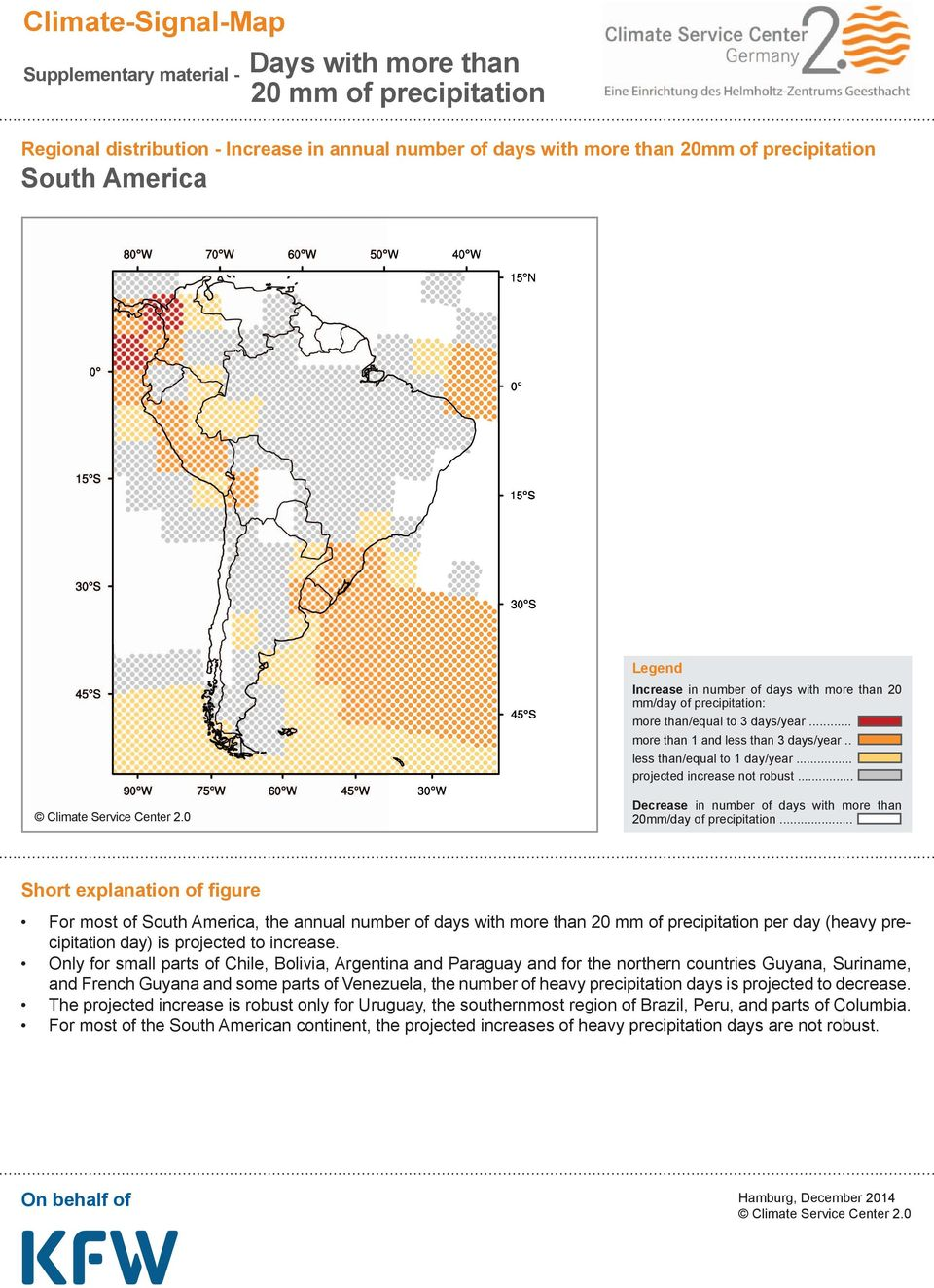 Venezuela, the number of heavy precipitation days is projected to decrease.
