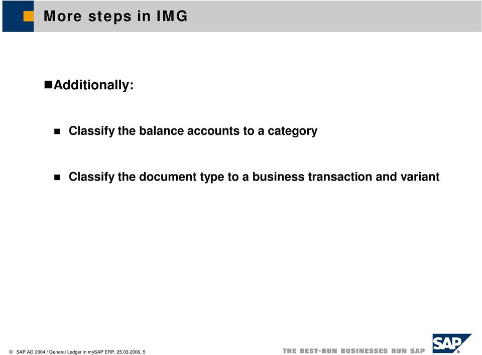 document type to a business transaction and