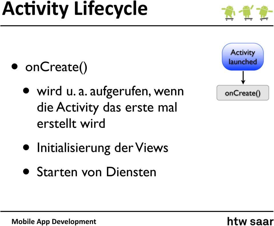 Activity launched oncreate() erstellt wird