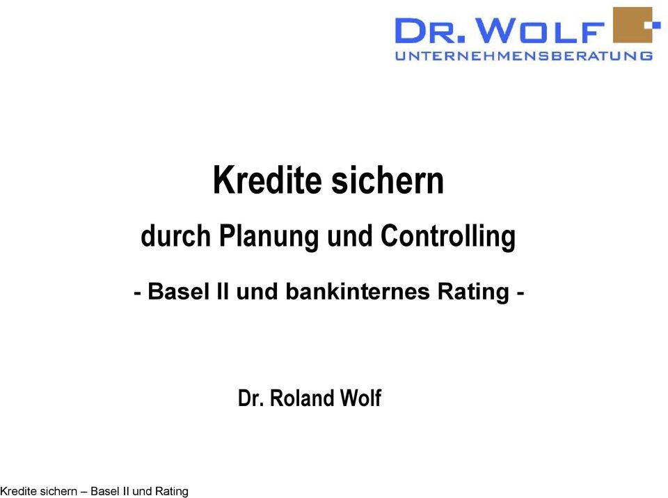 bankinternes Rating - Dr.