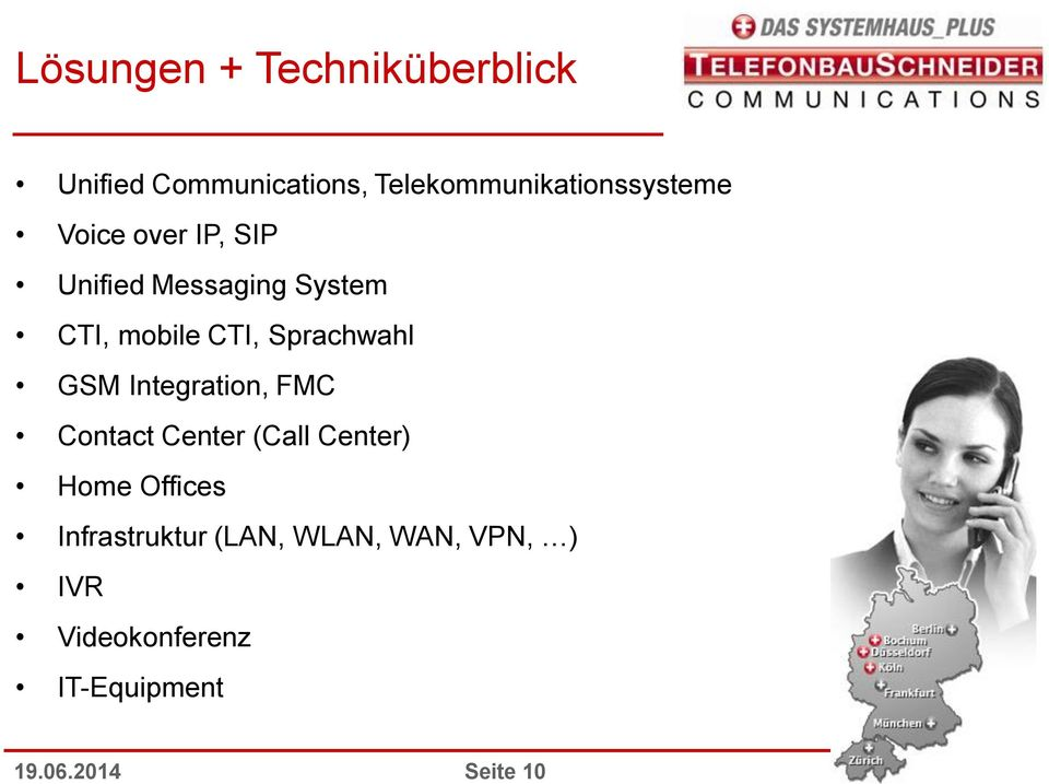 mobile CTI, Sprachwahl GSM Integration, FMC Contact Center (Call Center)