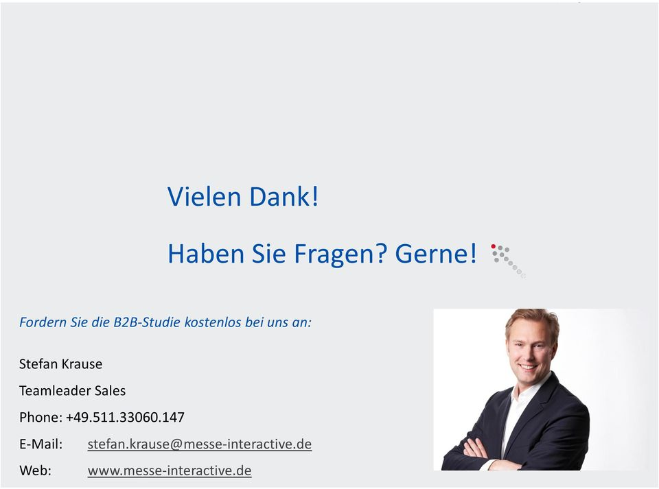 Stefan Krause Teamleader Sales Phone: +49.511.33060.