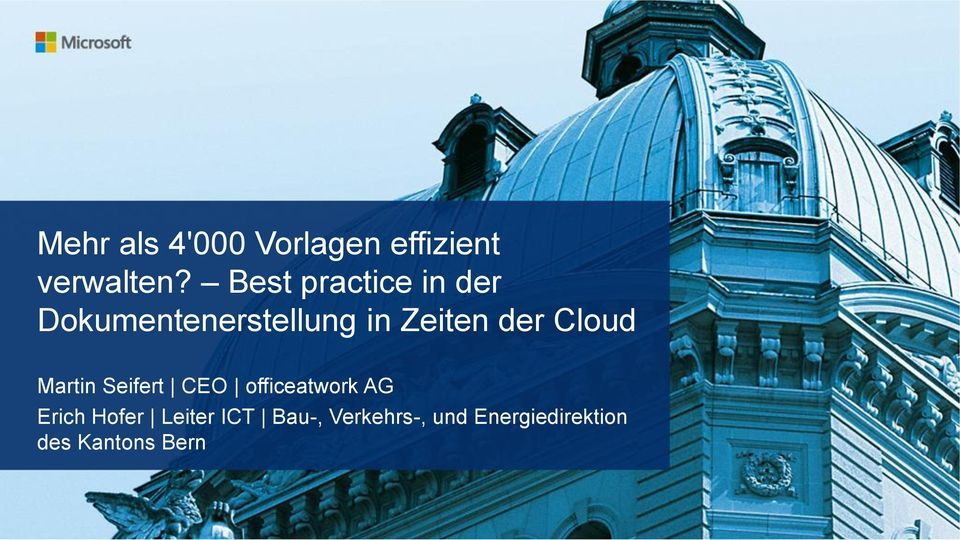 der Cloud Martin Seifert CEO officeatwork AG Erich
