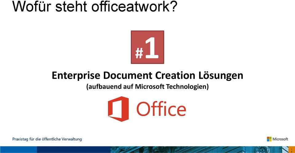 #1 Enterprise Document