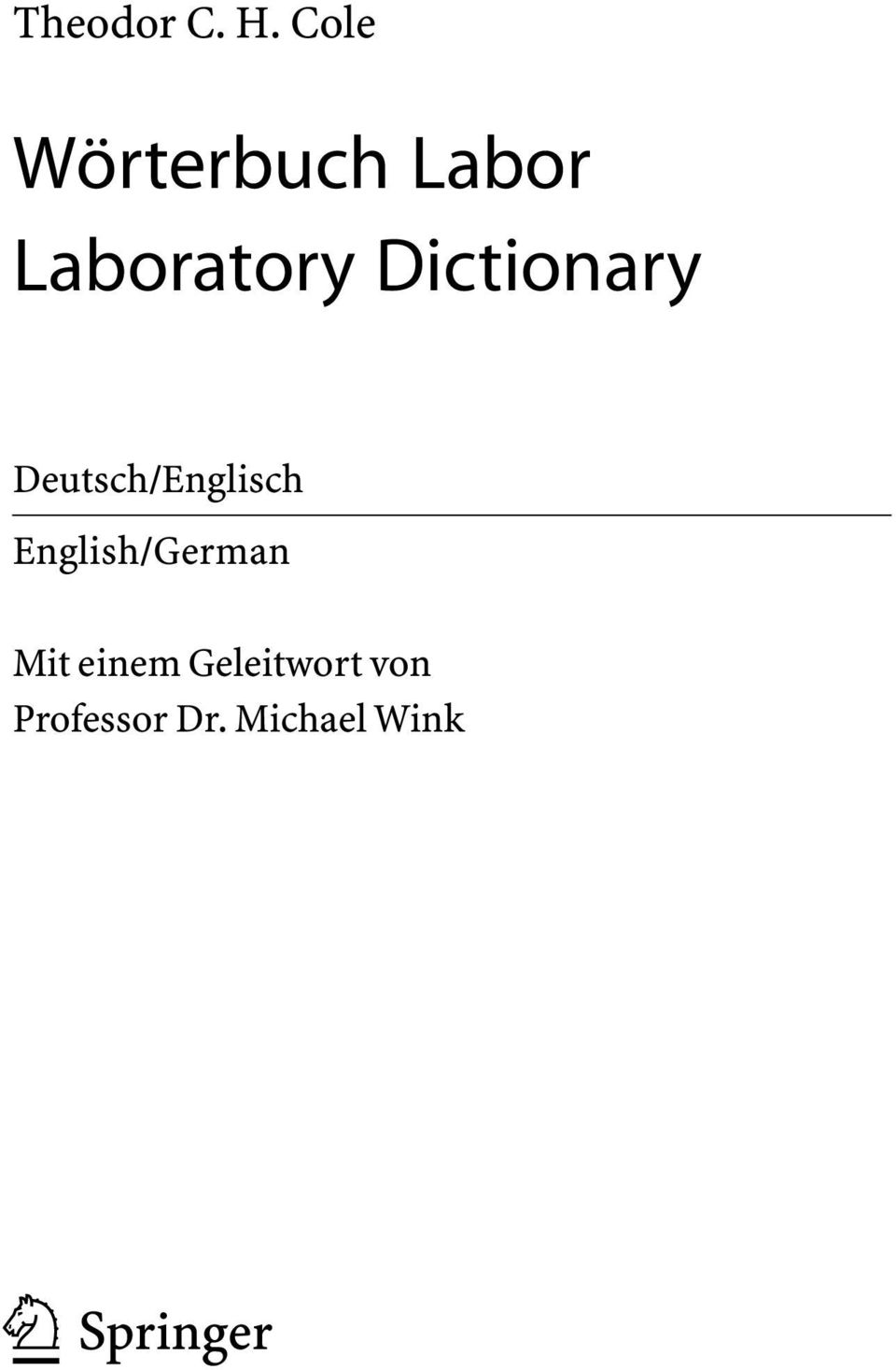Dictionary Deutsch/Englisch