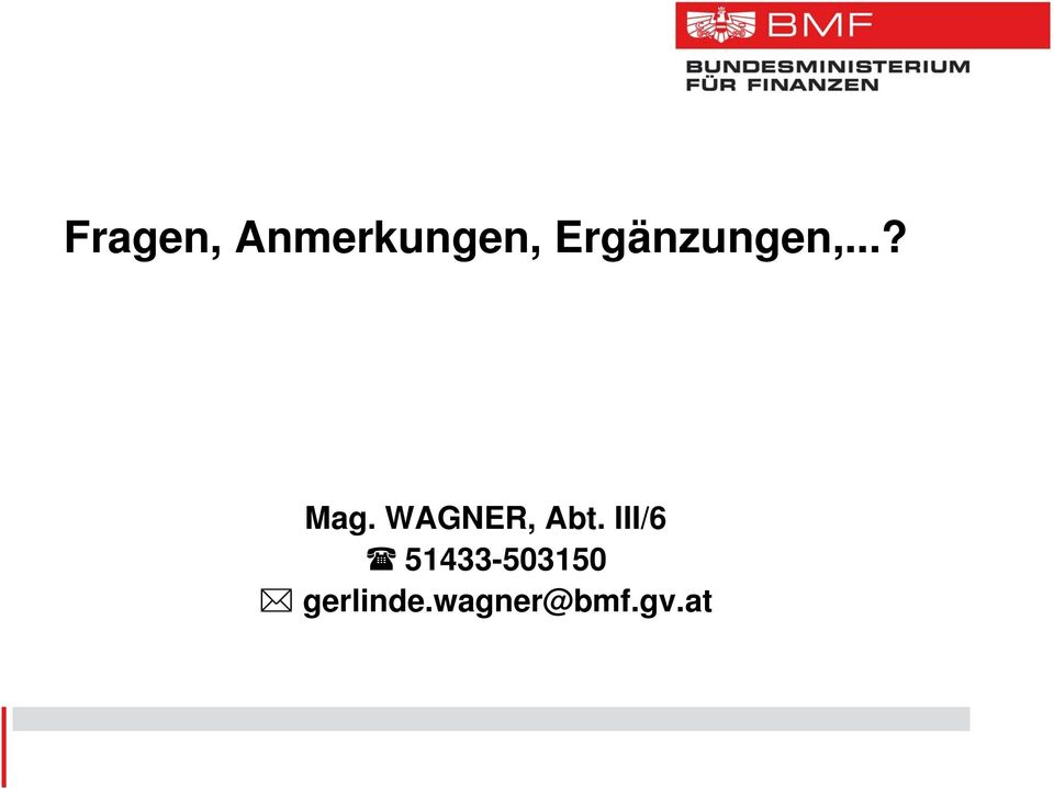WAGNER, Abt.