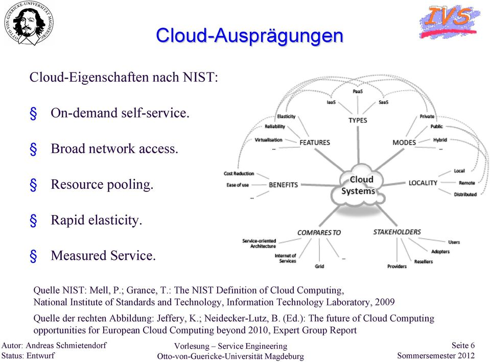 : The NIST Definition of Cloud Computing, National Institute of Standards and Technology, Information Technology