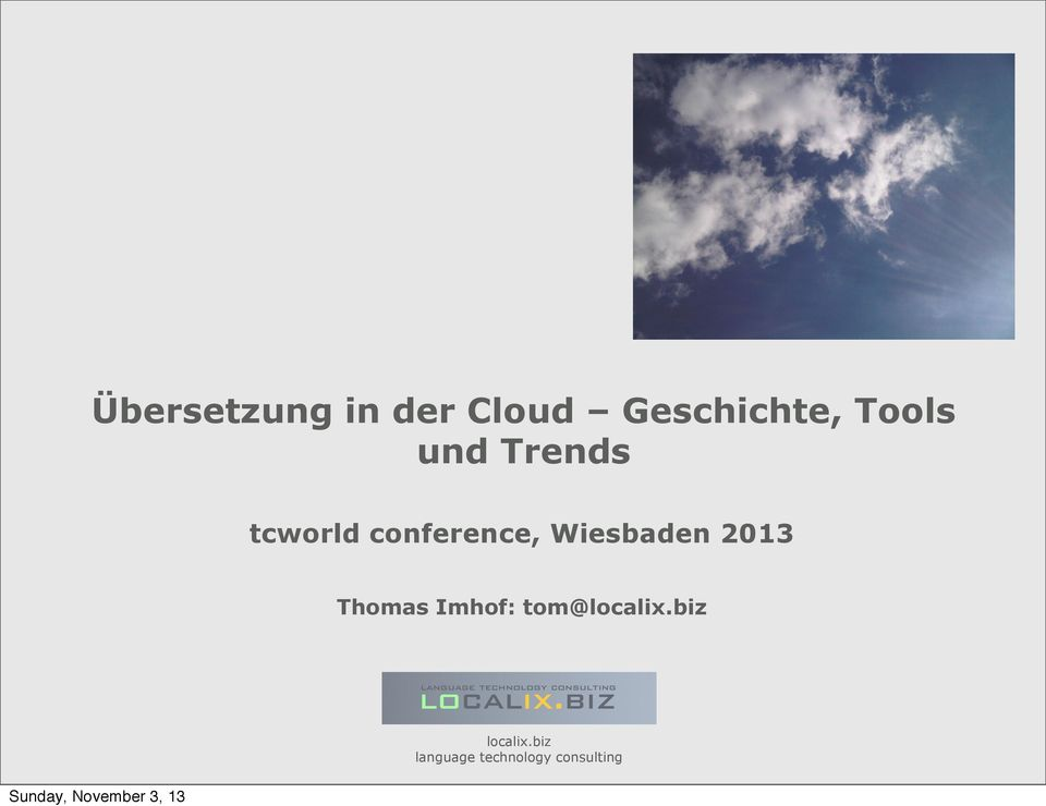 Trends tcworld conference,