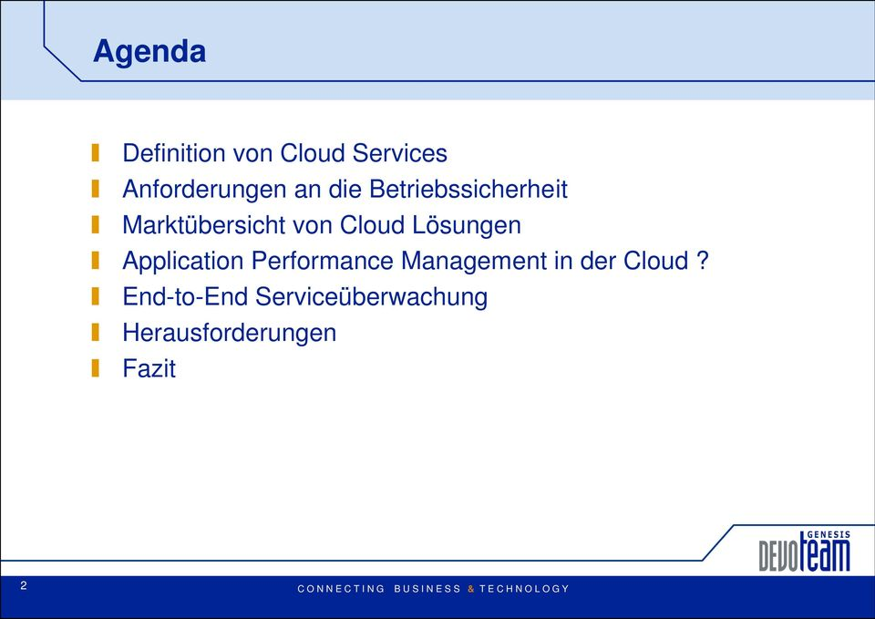 Lösungen Application Performance Management in der