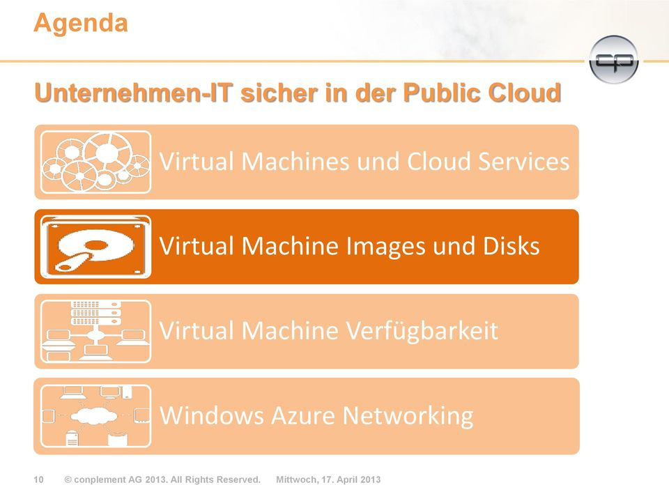 Virtual Machine Verfügbarkeit Windows Azure Networking 10