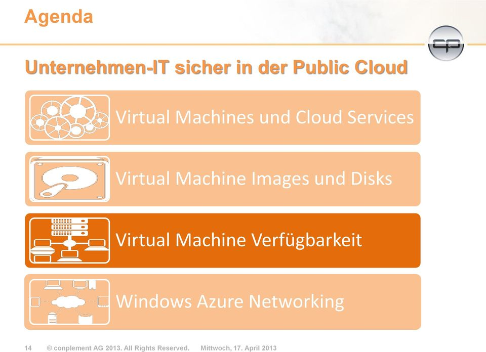 Virtual Machine Verfügbarkeit Windows Azure Networking 14