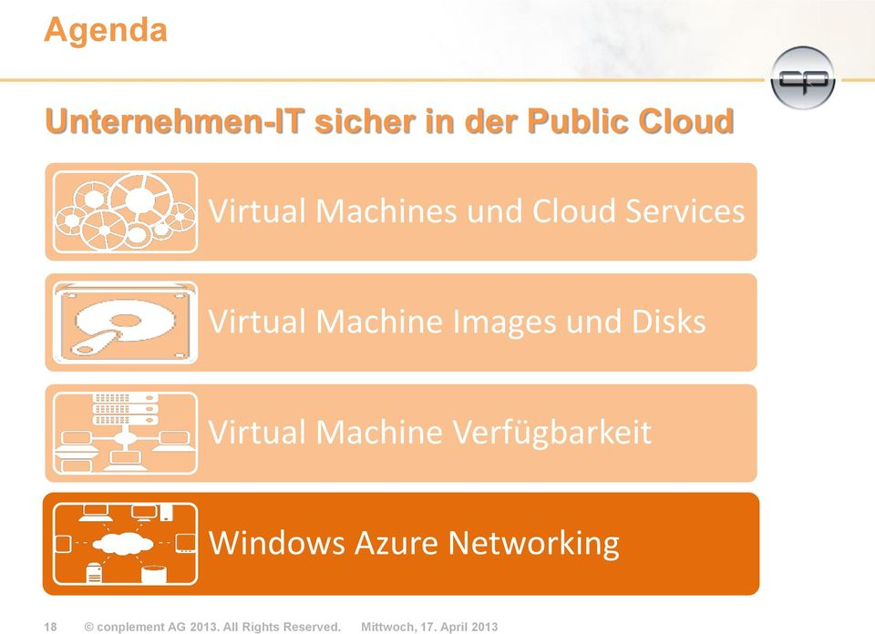 Virtual Machine Verfügbarkeit Windows Azure Networking 18